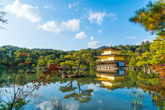 Beautiful Architecture at Kinkakuji Temple (The Golden Pavilion). In Kyoto, Japan Royalty Free Stock Image