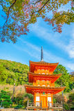 .Beautiful Architecture in Kiyomizu-dera Temple Kyoto, Japan Royalty Free Stock Images