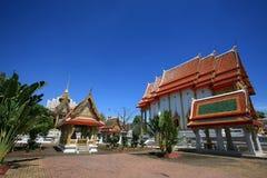 Beautiful architecture landscape of Thai temple Stock Photo
