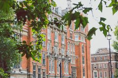 Beautiful architecture in London cty centre near Westminster. LONDON, UNITED KINGDOM - August 15th, 2014: beautiful architecture in London cty centre near Royalty Free Stock Image