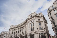 Beautiful architecture in London cty centre in Regent Street nea. LONDON, UNITED KINGDOM - August 12th, 2014: beautiful architecture in London cty centre in Stock Photo