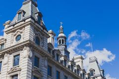 Beautiful architecture in London cty centre. LONDON, UNITED KINGDOM - August 17th, 2014: beautiful architecture in London cty centre Royalty Free Stock Photos