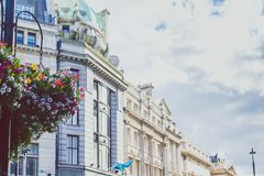 Beautiful architecture in London cty centre. LONDON, UNITED KINGDOM - August 17th, 2014: beautiful architecture in London cty centre Stock Photography