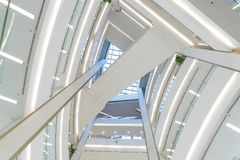 Beautiful architecture in luxury shopping mall. Abstract style Stock Photos