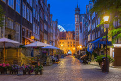 Beautiful architecture of Mariacka street in Gdansk Royalty Free Stock Images