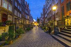 Beautiful architecture of Mariacka street in Gdansk Royalty Free Stock Photos