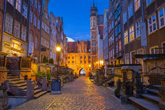 Beautiful architecture of Mariacka street in Gdansk Stock Photo