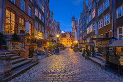Beautiful architecture of Mariacka street in Gdansk Stock Image