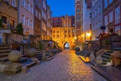 Beautiful architecture of Mariacka street in Gdansk Royalty Free Stock Image
