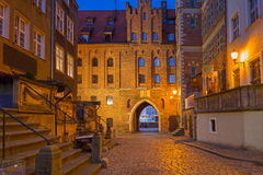 Beautiful architecture of Mariacka street in Gdansk Royalty Free Stock Photography