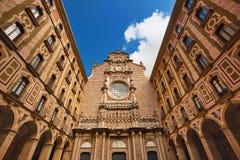 Beautiful architecture of Montserrat monastery, popular travel destination in Catalonia, Spain. Beautiful architecture of Montserrat monastery, popular travel stock image