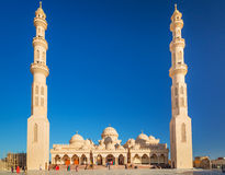 Beautiful architecture of Mosque in Hurghada. Egypt Royalty Free Stock Photography
