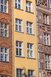 Beautiful architecture of the old town of Gdansk, Poland. Royalty Free Stock Image