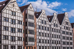 Beautiful architecture of the old town of Gdansk, Poland. Royalty Free Stock Photography