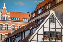 Beautiful architecture of the old town of Gdansk, Poland. Stock Images