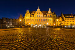 Beautiful architecture of the old town of Gdansk, Poland. Stock Photography