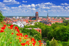 Beautiful architecture in the old town of Gdansk Stock Image
