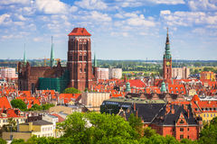 Beautiful architecture in the old town of Gdansk Stock Images