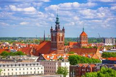 Beautiful architecture in the old town of Gdansk Stock Photo