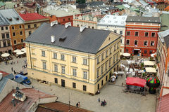 Beautiful architecture of the old town in Lublin Stock Images