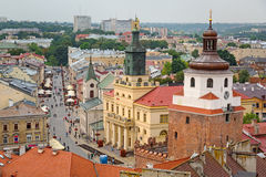 Beautiful architecture of the old town in Lublin Stock Photo