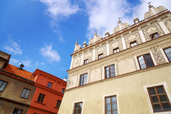 Beautiful architecture of the old town in Lublin Royalty Free Stock Photography