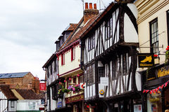Beautiful architecture at the Old Town in York, England Royalty Free Stock Photography