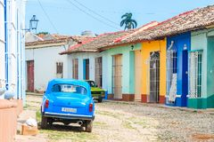 Old center, Trinidad Cuba. Beautiful architecture Old Trinidad Cuba Royalty Free Stock Photo