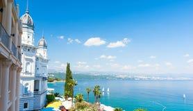 Beautiful architecture in Opatija, Istria, Kvarner, Croatia royalty free stock images