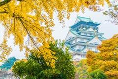 Beautiful architecture at Osaka castle Stock Image