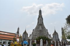 Pagodas  wat arun Bangkok Thailand, one of most famous temple in Thialand royalty free stock photos