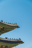 Beautiful architecture pattern in Korean roof style Royalty Free Stock Image