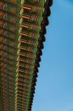 Beautiful architecture pattern in Korean roof style Stock Photos