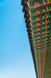 Beautiful architecture pattern in Korean roof style Stock Photography