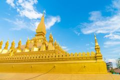 Beautiful Architecture at Pha That Luang,Vientiane, Laos. Stock Photos