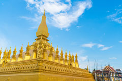 Beautiful Architecture at Pha That Luang,Vientiane, Laos. Royalty Free Stock Photography