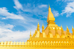 Beautiful Architecture at Pha That Luang,Vientiane, Laos. Royalty Free Stock Image