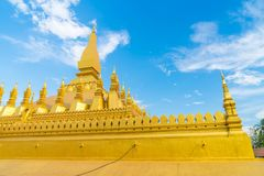 Beautiful Architecture at Pha That Luang,Vientiane, Laos. Royalty Free Stock Images