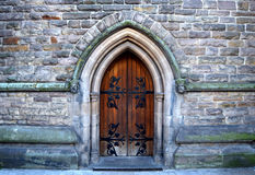 Beautiful architecture of the rear entrance into the old church in city center of Birmingham , United Kingdom. Beautiful architecture of the rear entrance into stock images