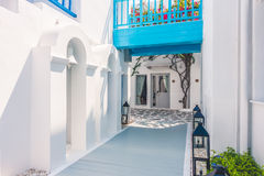 Beautiful architecture with santorini and greece style Royalty Free Stock Photography