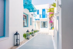 Beautiful architecture with santorini and greece style Royalty Free Stock Photos