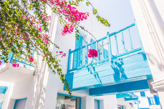Beautiful architecture with santorini and greece style Stock Image