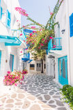Beautiful architecture with santorini and greece style Stock Photography