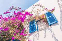 Beautiful architecture with santorini and greece style Stock Images