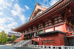 Beautiful Architecture at Sensoji Temple around Asakusa area in Stock Images
