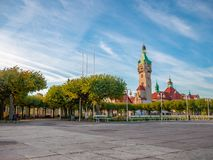Beautiful architecture of Sopot at morning. Beautiful architecture of Sopot at morning sun in Poland, Europe royalty free stock images