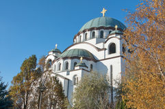 Beautiful architecture of the St. Sava Church in Belgrade Stock Photography