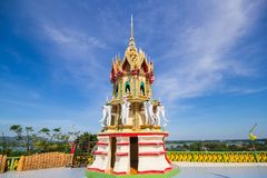 Temple thai buddha in thailand at Kanchanaburi Royalty Free Stock Photo