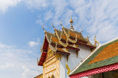 Beautiful architecture Thai's temple style Stock Photos
