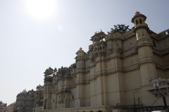 Beautiful Architecture of Udaipur City Palace in Rajasthan. India, Asia Royalty Free Stock Image